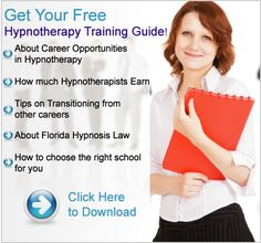 Get your Free Hypnotherapy Training guide - learn about careers in Hypnotherapy via Florida Institute of Hypnotherapy - http://tfioh.com/Hypnotherapy-Training-Guide.html
