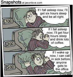 Dear Insomnia, I just need a goodnights rest.
