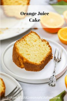 This orange juice cake is bursting with citrus scent and flavour! It's a one bowl bundt cake that is so easy to make. Delicious Cake Recipes, Yummy Cakes, Sweet Recipes, Dessert Recipes, Easy Recipes, Healthy Recipes, Homemade Orange Juice, Orange Juice Cake, Healthy Fruit Cake