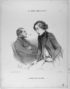 honoré daumier caricatures | ... Tobacco Pipe Artistory: Honoré Daumier: Caricatures and Pipe Smokers