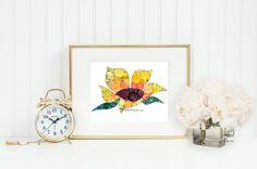 Bouton Art tournesol 11 x 14 décorations du par BellePapiers