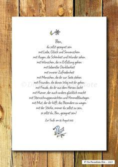 Gastgeschenke - Druck/Print: Segenswunsch (nicht nur) für Kinder - ein Designerstück von DiePersoenlicheNote bei DaWanda