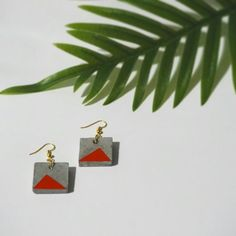 Concrete geometric earrings