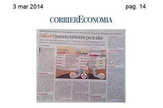 @CorrierEconomia, inserto del Corriere della Sera.  3 marzo 2014 - pag. 14
