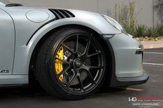 Battleship Gray Porsche 991 GT3 RS with HRE P101 in Satin Black (5)