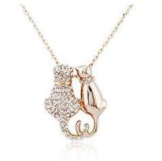 Necklaces - Cute Cat Couple Pendant Necklace