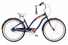Another kick-ass Electra bike - Black Betty cruiser! Electra Bicycles, Electra Bike, Bicycle Rims, Cruiser Bicycle, Electra Beach Cruiser, Cruisers, Bicycle Store, Trek Bikes, Black Betty