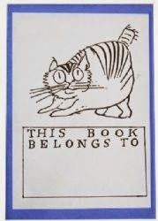 **Cat bookplate by Edward Lear