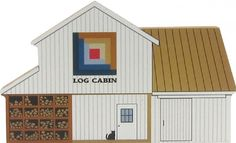 Candabean Collectibles  - Cat's Meow Village Log Cabin Quilt Barn