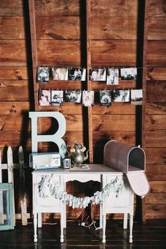 rustic vintage barn wedding mailbox decor / http://www.himisspuff.com/mailbox-wedding-decor-ideas/5/