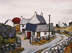 Farm near Ruthin by British Contemporary Artist David Barnes