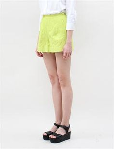 Rachel Comey Bell Shorts- Chartreuse