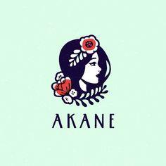 """591 Likes, 50 Comments - Alexandra Erkaeva (@erkaeva) on Instagram: """"Akane Flower Shop. #logo #logotype #sale #logosai #logoroom #emblem #illustration #design…"""""""