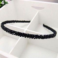 Womens Handmade Headband Flower Crystal Beads Hairband Hair Band Hair Clasp