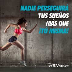 Nadie perseguirá tus sueños más que ¡tú misma! #fitness #motivation #girl #goals #go #motivacion #gym #musculacion #workhard #musculos #fuerza #chico #chica #chicofitness #chicafitness #sport Fitness Motivation Quotes, Fitness Tips, Health Fitness, Gym Quote, Runner Girl, Motivational Phrases, Special Quotes, Running Workouts, Herbalife