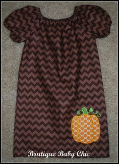 An idea for a fall dress.  I even have a peasant dress pattern and pumpkin applique!
