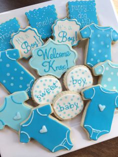 baby boy decorated cookies baby shower cookies