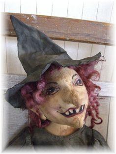Primitive Witch doll e pattern by judeartdolls on Etsy, $12.00