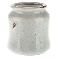 Pale Blue Rustic Ceramic Throw Vase