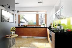 This is Modern Kitchen Cabinet Design Item of Home Plan For Single Story. Beautiful Home Plan everything is closer, more compact and can be very beautiful. House, Modern Kitchen Cabinets, Home, House Plans, Residential Design, House Interior, Modern Kitchen Cabinet Design, Cabinet Design, Bungalow Design