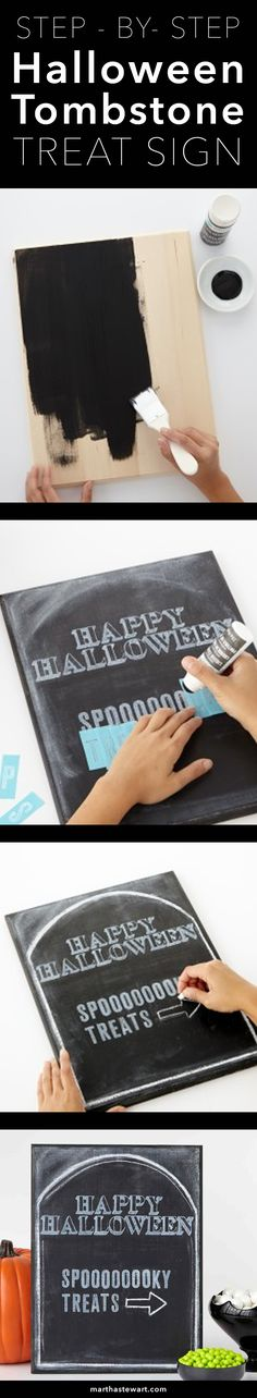 How to Make a Spooky Halloween Tombstone Treat Sign