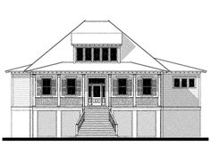 Bermuda Bluff Cottage House Plan Design from Allison Ramsey Architects Coastal House Plans, Beach House Plans, New House Plans, Small House Plans, House Floor Plans, Small Cottage Homes, Cottage Plan, Camden House, New Home Construction