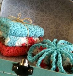 Set of 3 Dishrags with Scrubbie