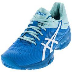 1fa0b7b85e1f Women`s Gel-Solution Speed 3 Tennis Shoes Aqua Splash and White