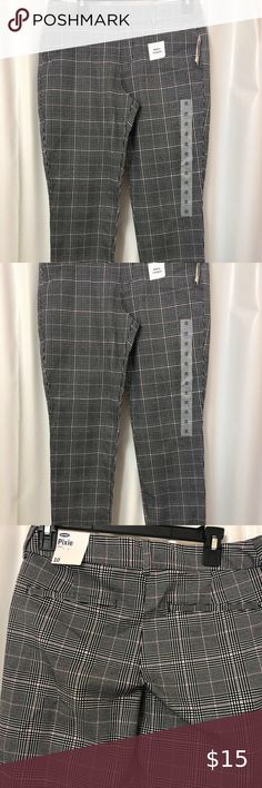 Old Navy Printed Pixie Ankle Pants Navy And Green Plaid Size 18 NWT