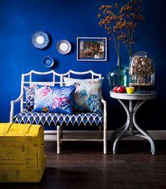 I do love a blue wall
