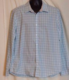Calvin Klein Multi color Checked Cotton Men's Long Sleeve Dress Shirt Size XL