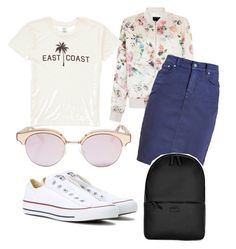 """"""":)"""" by ain1313 on Polyvore featuring New Look, Billabong, Barbour, Converse, Le Specs and Rains"""