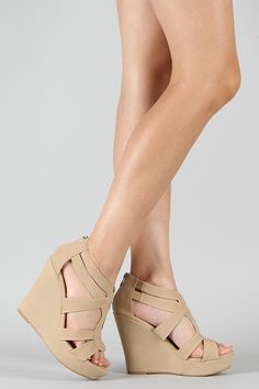 Cute, nude wedges that are cheep.