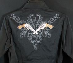 BLACK FRIDAY SALE ON NOW!  EXTRA 15% off your order of $100 or more! ROPER PISTOLS GUNS  Embroidery Western Arena Performance SHIRT NWT Ladies 3X #Roper #Western