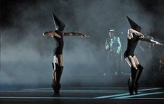 "Gareth Pugh's costume design for Wayne McGregor's ballet ""Carbon Life"" Royal Ballet"