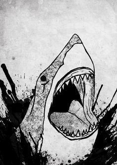 Illustration I did for a poster for the very lovely local bar Twisters. Saturday Shark will gladly eat your face.
