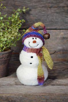Bear Creek Snowman Needle Felted Snowmen 667 por BearCreekDesign