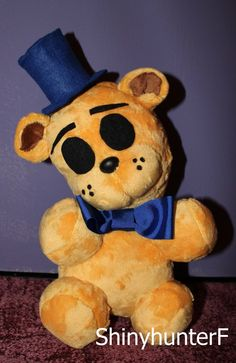 Chibi Golden Freddy Plush by ShinyhunterF on DeviantArt. This would be an easy teddy conversion for my FNAF fan.
