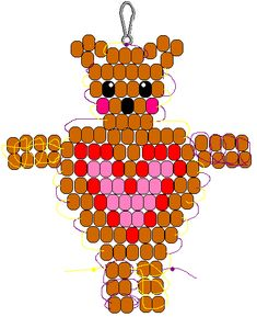 Heart Tummy Bear pony bead pattern