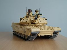 A 1/22 scale LEGO model of a US Army m1A1 Abrams MBT.