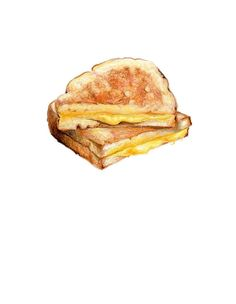 Grilled Cheese Sandwich // Original Illustration // Archival Quality Print