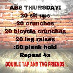 Abs Thursday! Workout Program