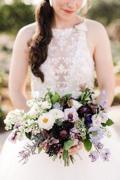 Purple, lavender, white, blue bridal bouquet by Katie Noonan Design for San Luis Obispo Center of Effort estate wedding Bridal Bouquet Blue, Flower Bouquet Wedding, Floral Wedding, Wedding Colors, Blue Bridal, Blue Purple Wedding, Bridezilla, California Wedding, Wedding Attire