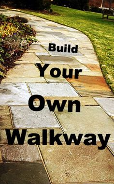Installing a Stone or Paver Walkway with a Mini-skid #DIY #Walkway