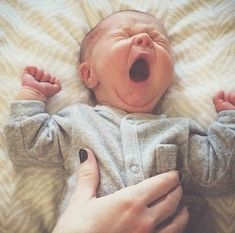 Babies yawns are so sweet