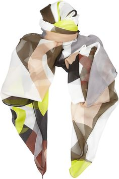 Diane von Furstenberg Printed washed-chiffon scarf - 54% Off Now at THE OUTNET