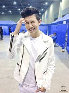 Rap Monster at Gayo Daejun, backstage