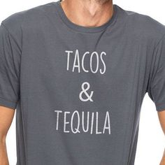 Dad Gift Tacos & Tequila Men's T Shirt Fathers Day by ebollo