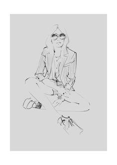 #fashionillustration Judith Van den Hoek