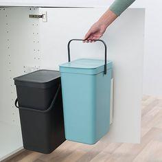 Buy Brabantia Sort & Go Built-In Bin, Grey / Mint, 2 x 16L Online at johnlewis.com
